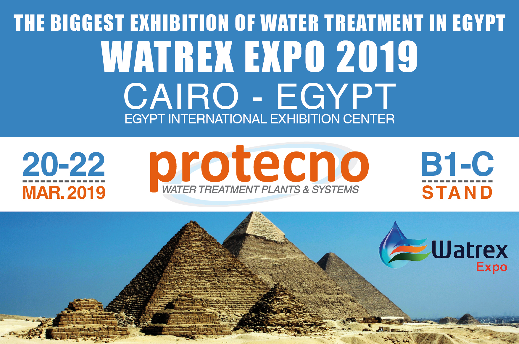 WATREX EXPO 2019! MARCH 20-22, CAIRO.